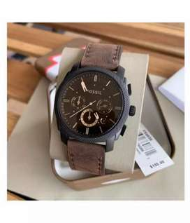 Refurbished Premium fossil leather watch CASH ON DELIVERY negotiable