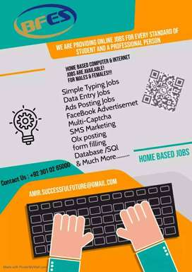 JOB FOR BOYS/GIRLS Your free time with Online jobs Hurry!! Earn more