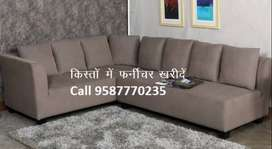 Offer Price New Sofa set 8590,L shape sofa 14000/- only Emi Available