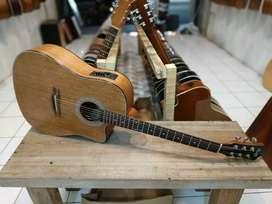 Gitar akustik elektrik cobwoy jumbo cutway