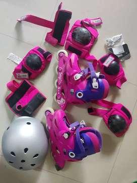 Decathlon kids Skating shoes complete set - size 34/36
