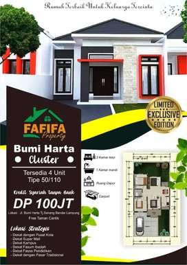 Rumah Cluster fafifa bumi harta bisa kredit tanpa bank dan kpr