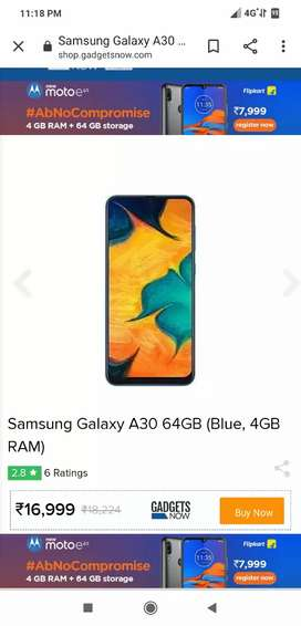 SAMSUNG A30 4GB 64 STORAGE SCLL PACK 3 MONTH NEW PRIZE 17000