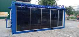 Container Office 20 Feet Full Kaca Depan