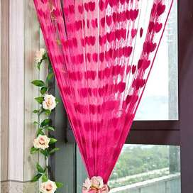 100*200cm Door Window Curtain Heart Design Wedding Bedroom Living Room