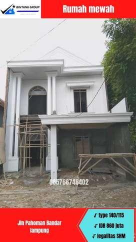 Rumah mewah 2 lantai bandar Lampung