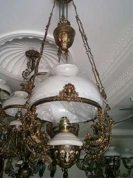 Lampu Gantung Antik Dm 40 CM Motif Singa Kapal Kipas