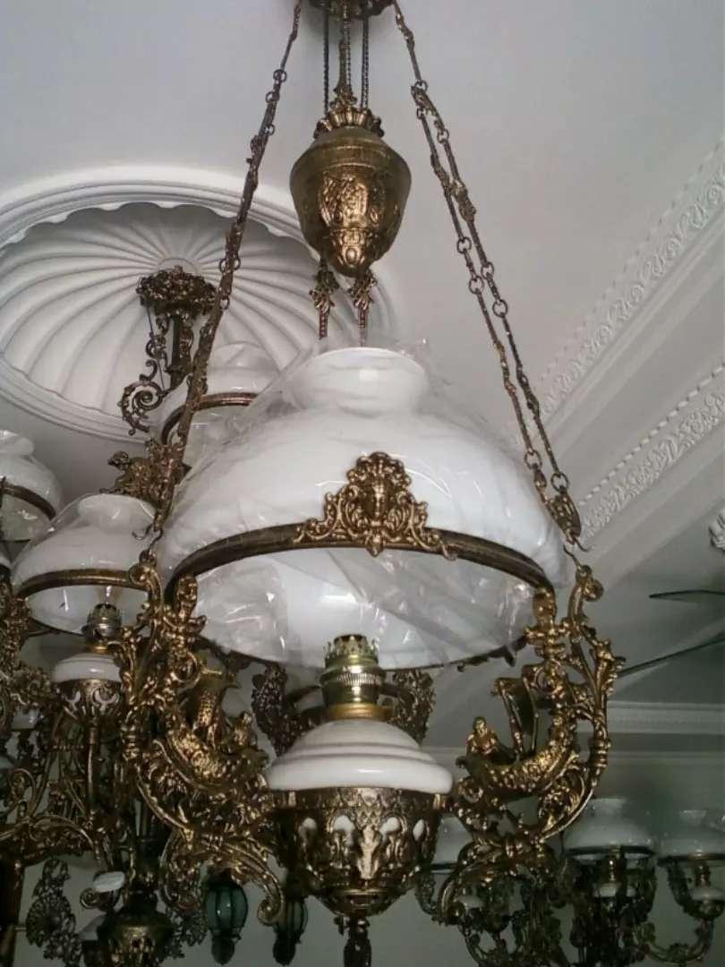 Lampu Gantung Antik Dm 40 CM Motif Singa Kapal Kipas 0