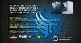 PC RAKITAN GAMING R5 5600X | RTX 2060 | M.2 256GB | XPG D60 16GB KIT