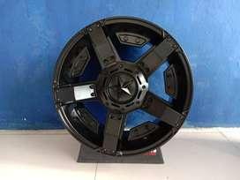 Velg Mobil HSR RASTA 2 Ring 17 Lebar 9 pcd6X139,7 ET25 Untuk Hilux