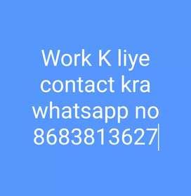 Work k liye contact kra