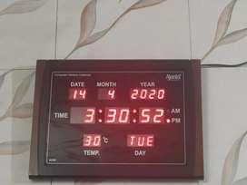 Ajanta Quartz digital wallclock with warenty FIXED RATE