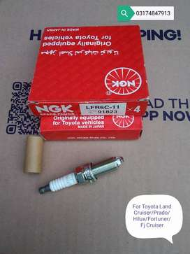 Ngk Lfr6c-11 Spark Plugs For Vitz/Camry/Prado/Hilux/Fortuner(Japan)