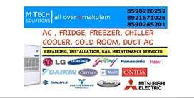 AC, FRIDGE REPAIRING, INSTALLATION, MAINTENANCE, GAS, @SERVICES, KOCHI