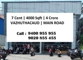 7 Cent | 4000 Sqft  | 4 Crore |Vazhuthacaud