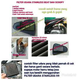 filter beat dan scoopy bahan stainless