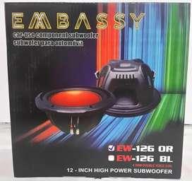 Subwofer 12inc Embassy EW126