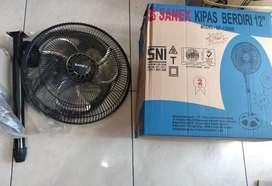 kipas angin berdiri/stand fan sanex besi 12inc SF 1208B (jantung acc)