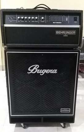 Amplifier bass head cabinet behringer bvt 5500h + bn410ts