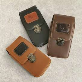 Dompet pinggang hp pria Kulit asli