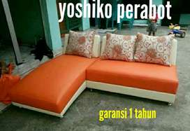 Yoshiko perabot - sofa starla orange cream