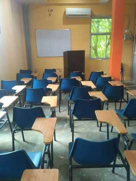 Class Room writing pad Chairs and Desk Bench