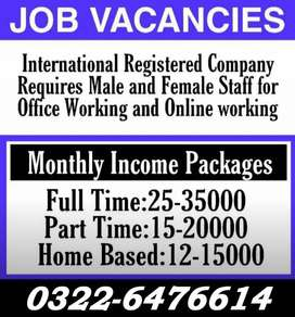 Part time/Full time/Home Base job in Lahore