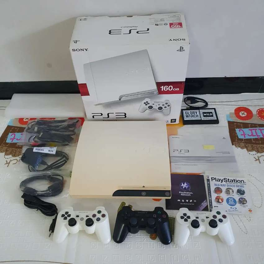 PS3 Slim Putih Seri 25xx 160Gb