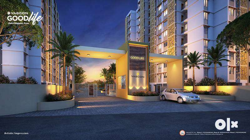 #Affordable,21.73 lakh(all inclusive)1 Bhk In Talegaon,Katvi MIDC Road 0