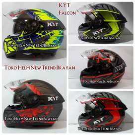 Helm KYT Falcon Motif double visor