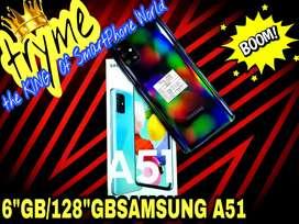 TRYME 6GB RAM/128GB SAMSUNG A51 Full Kit Box Brand New Conditions