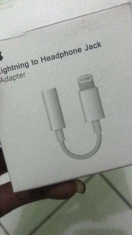 Lightning to jack iphone tanpa bluetooth.support mic.plug & play