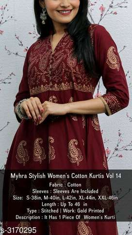 Best Women Cotton Kurti | Free Cash On Delivery Book Now!!!