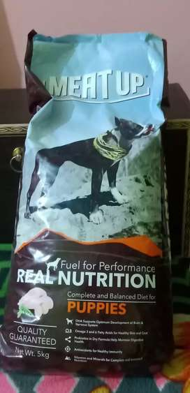5 kg meat up puppy food for sale