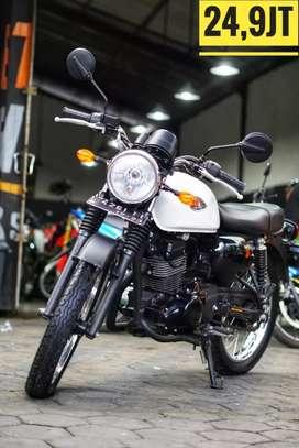 Kawasaki W175 2018, Low KM, Mulus Luar Dalam, Danny Mustika Motor