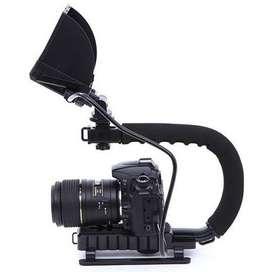 Feocon Camera Stabilizer Grip Video Handle C Shape for DSLR