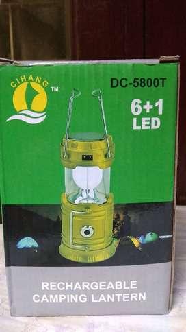 Rechargeable lampu camping / tenda ( Hitam )