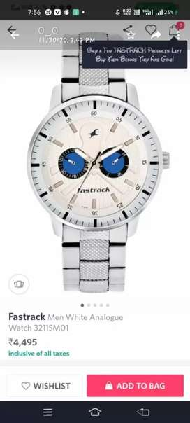 Fastrack Men White Analouge Watch 3211SM01