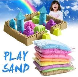 Refill pasir kinetik / pasir ajib 1000 gram/ 1kg barang standar SNI