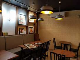 This is a cafe with good ambience and new with all kitchen items.