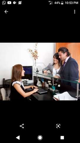 Lady receptionist required