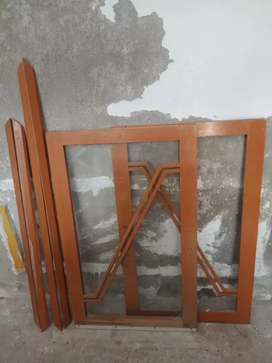 Solid wooden dayeer kitchen cabnet / window doors in best condition