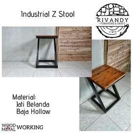 Industrial Z Stool