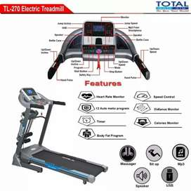 Electric Treadmill Total 3 in 1 TL 270 + Dumble Set 20 Kg Best Package