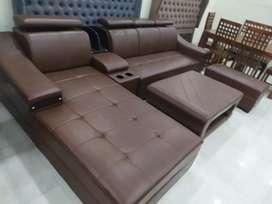 L types leather sofa set