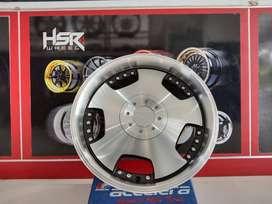bisa kredit velg mobil racing hsr DH JD249 HSR R16X7 H8X100-114,3 ET42