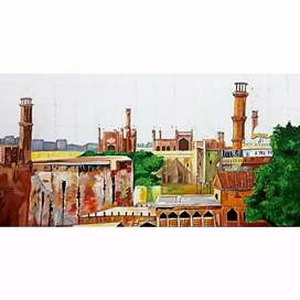 """Lahore"" oil painting"