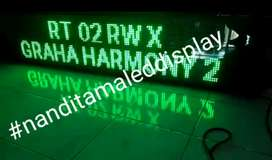 Running textled Display*