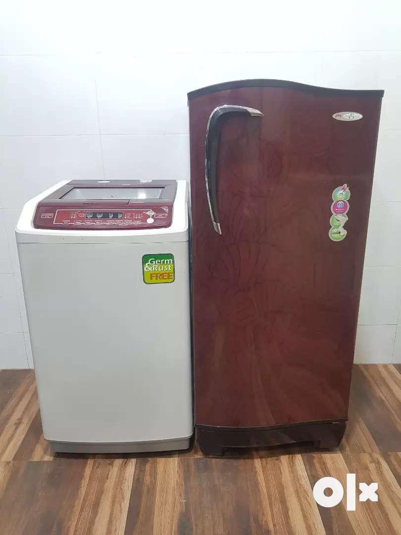 Godrej single door refrigerator and Videocon washing machine 0