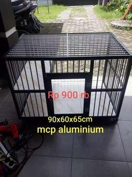 Kandang Aluminium Kandang Kucing 90x60x65cm